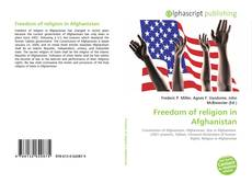 Buchcover von Freedom of religion in Afghanistan