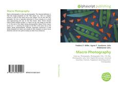 Bookcover of Macro Photography