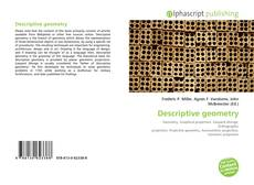 Descriptive geometry kitap kapağı