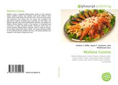 Bookcover of Maltese Cuisine