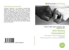 Bookcover of Anti-Slavery International