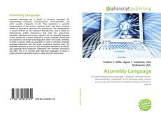 Bookcover of Assembly Language