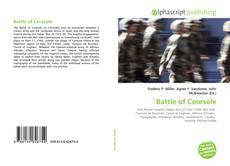 Couverture de Battle of Ceresole