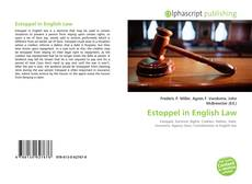 Bookcover of Estoppel in English Law