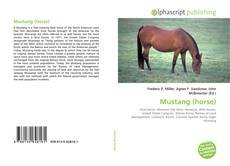 Bookcover of Mustang (horse)