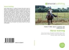 Capa do livro de Horse training