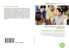 Bookcover of Continuum Hypothesis