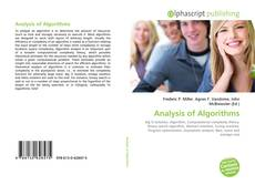 Bookcover of Analysis of Algorithms