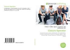 Bookcover of Closure Operator