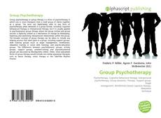 Bookcover of Group Psychotherapy