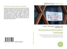 Capa do livro de Architecture Description Language