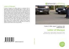 Couverture de Letter of Marque