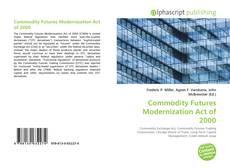 Capa do livro de Commodity Futures Modernization Act of 2000