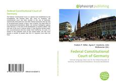 Couverture de Federal Constitutional Court of Germany