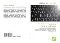 Buchcover von Constructed Script