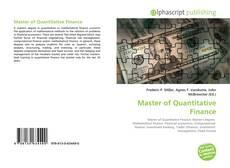 Bookcover of Master of Quantitative Finance