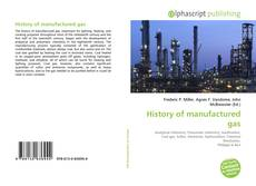 Bookcover of History of manufactured gas