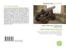 Bookcover of 12th Chief Directorate