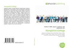 Bookcover of Hampshire College
