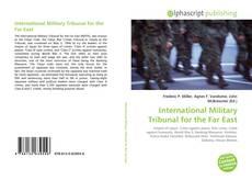 Copertina di International Military Tribunal for the Far East