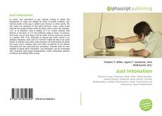 Bookcover of Just Intonation