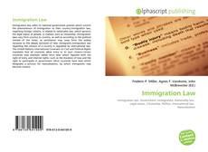 Copertina di Immigration Law