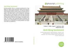 Bookcover of Anti-Qing Sentiment