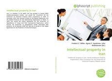 Buchcover von Intellectual property in Iran