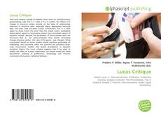 Borítókép a  Lucas Critique - hoz