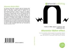 Bookcover of Aharonov–Bohm effect