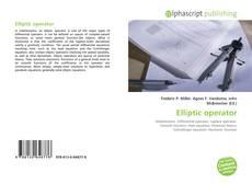 Capa do livro de Elliptic operator