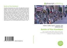 Bookcover of Battle of Ras Kamboni