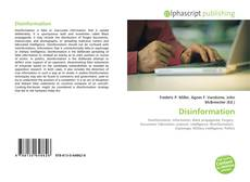 Bookcover of Disinformation