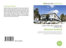 Bookcover of Absentee landlord