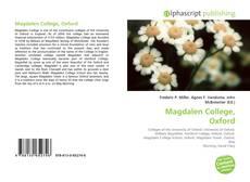 Capa do livro de Magdalen College, Oxford