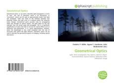 Bookcover of Geometrical Optics