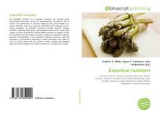 Bookcover of Essential nutrient