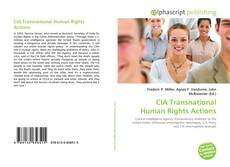 Bookcover of CIA Transnational Human Rights Actions