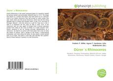Bookcover of Dürer´s Rhinoceros