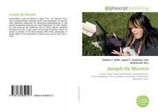 Buchcover von Joseph de Maistre
