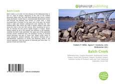 Bookcover of Balch Creek