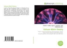 Bookcover of Kaluza–Klein theory