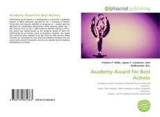 Bookcover of Academy Award for Best Actress