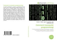 Bookcover of Comment (computer programming)