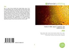 Bookcover of Ale