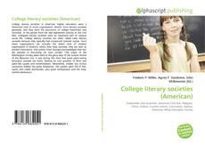 College literary societies (American) kitap kapağı