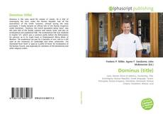 Bookcover of Dominus (title)