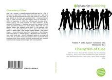 Portada del libro de Characters of Glee