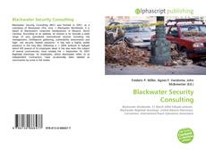 Blackwater Security Consulting的封面
