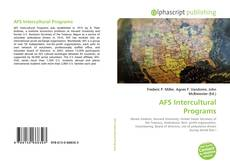 Bookcover of AFS Intercultural Programs